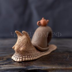 чайная игрушка питомец улитка Авсяников керамика глина ручная работа