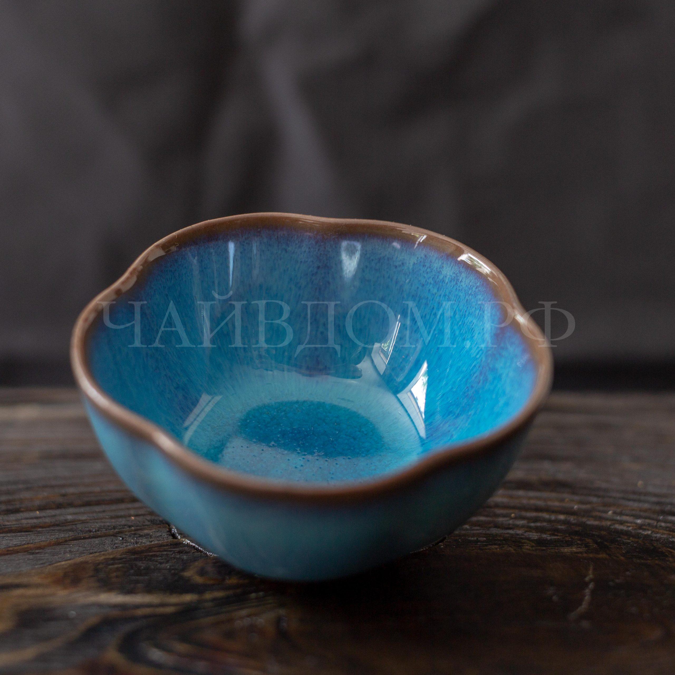 пиала глина керамика глазурь цветок