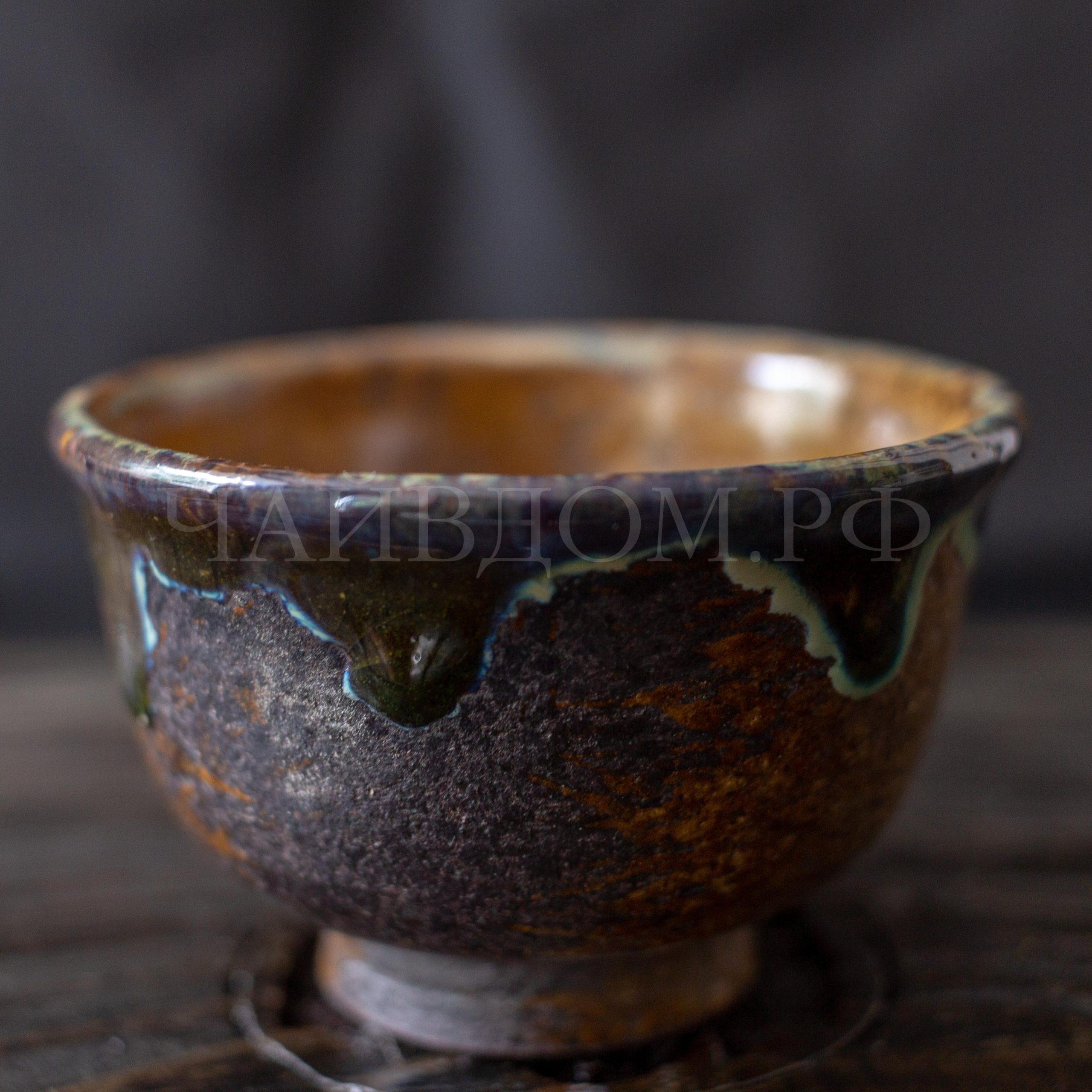 пиала глина глазурь керамика дровяной обжиг хранитель леса