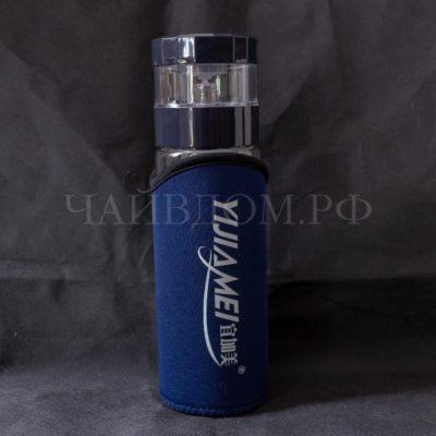 походная бутылка заварной отсек двойное стекло 450мл чехол тайвань Yijiamei