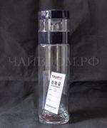 Фото термос чайник чай походная бутылка заварной отсек двойное стекло 450мл чехол Тайвань Yijiamei